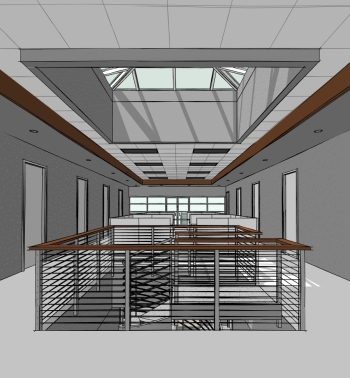 Interior Perspective - Skylights